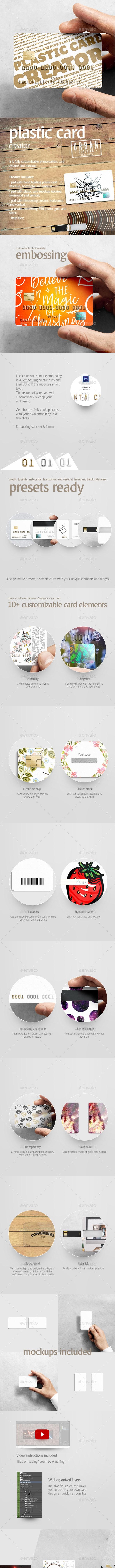 Plastic Card Creator - Business Cards Print