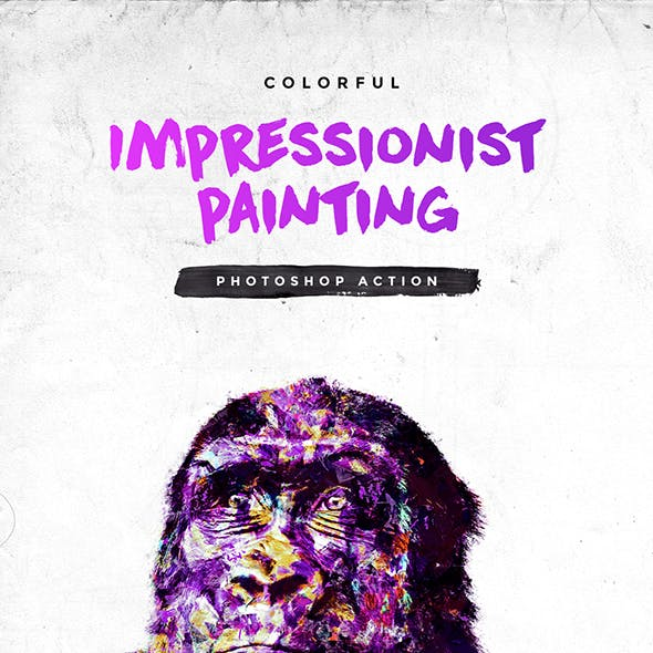 Colorful Impressionist Painting Photoshop Action