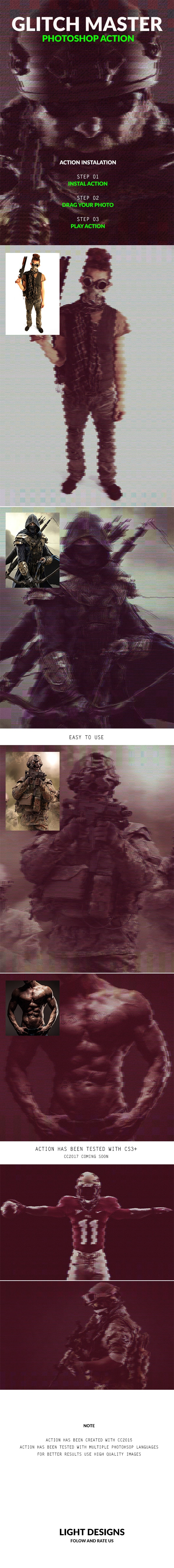 Glitch Master - Photoshop Action - Photo Effects Actions