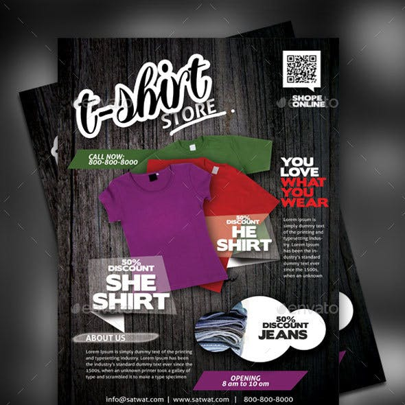 T-Shirt Shop Flyer