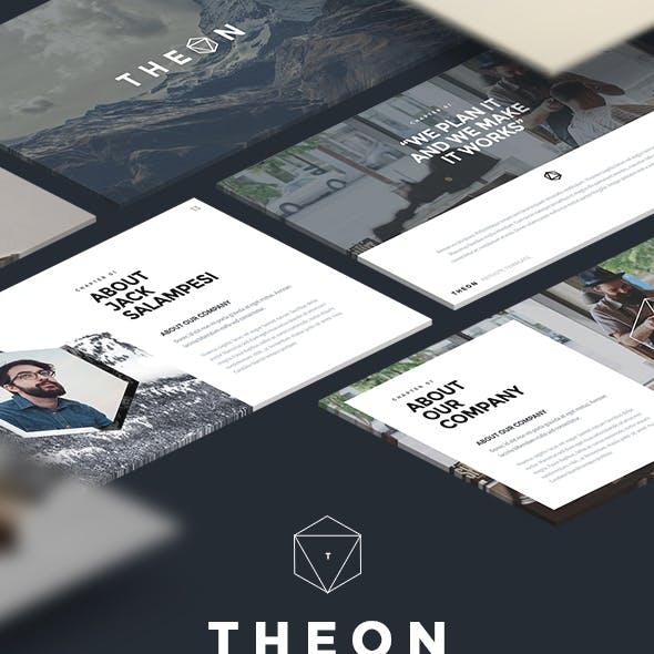 Modern Minimal Powerpoint Template (Theon)