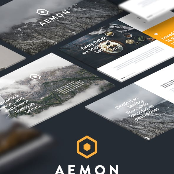 Minimal & Creative Powerpoint Template (Aemon)