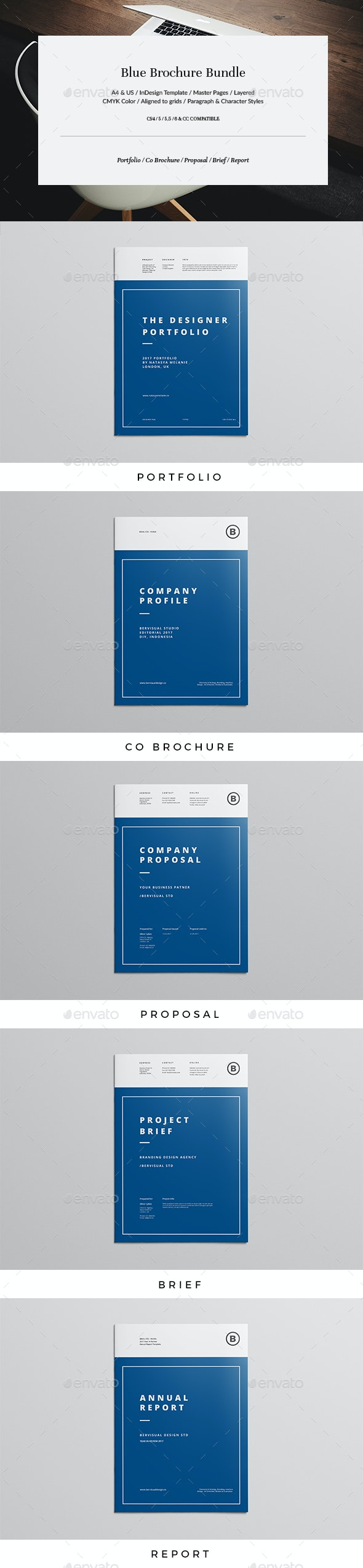 Blue Brochure Bundle - Corporate Brochures