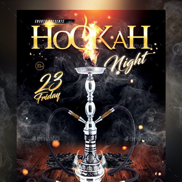 Hookah Night Flyer Template