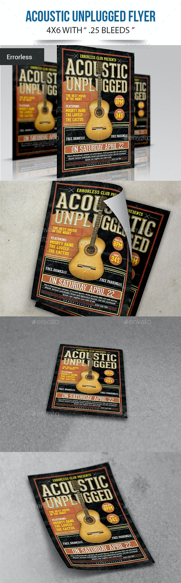 Acoustic Unplugged Flyer - Concerts Events