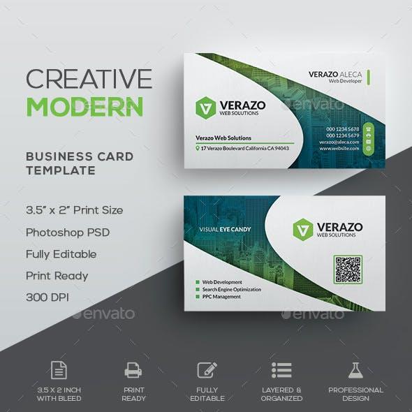 Clean Modern Corporate Business Card Template