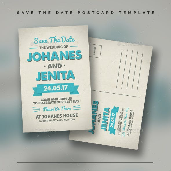 Save The Date Postcard Template Vol.02