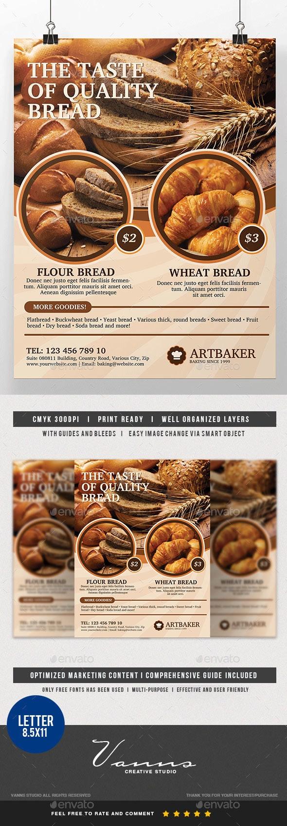 Bakery Product Flyer - Commerce Flyers