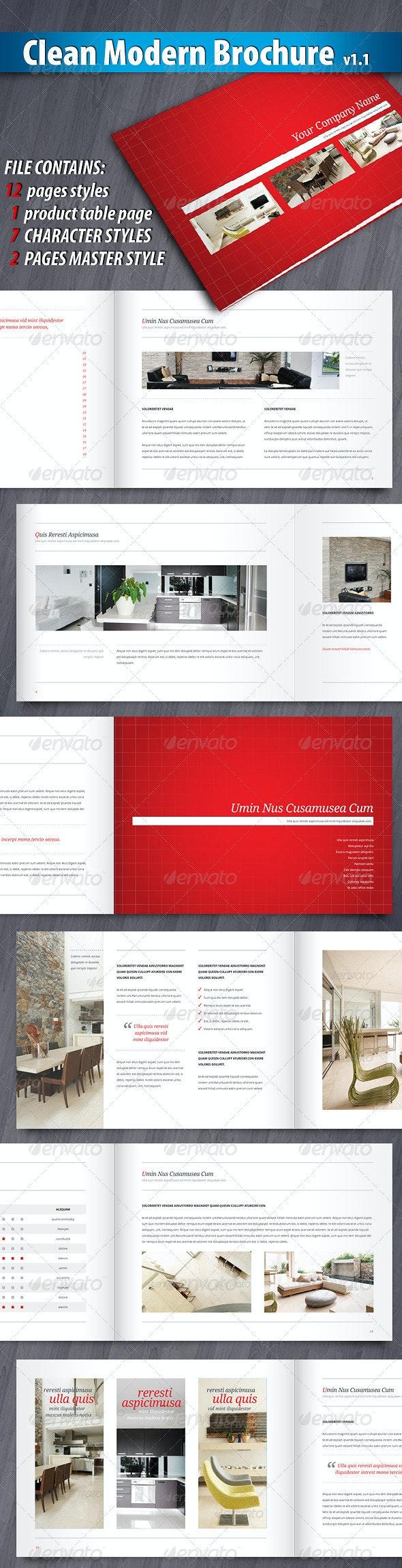 Clean Modern Brochure - Corporate Brochures