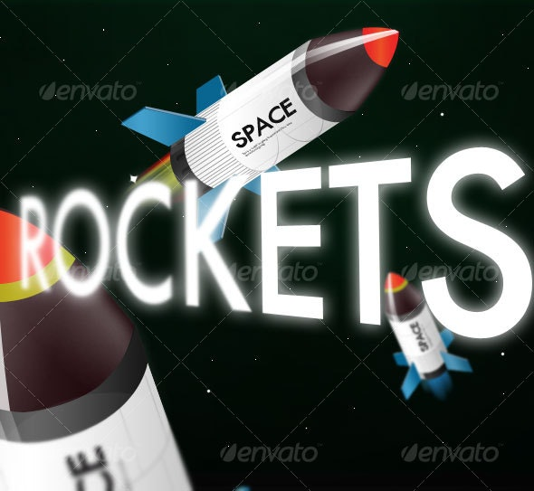 Little Rockets - Objects Illustrations