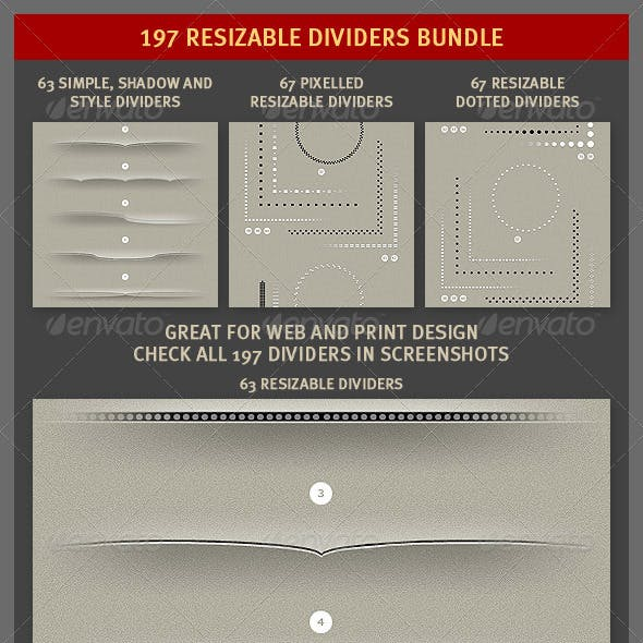 197 Resizable Dividers Bundle