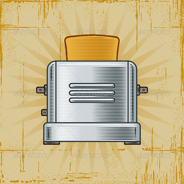 Retro Toaster - Man-made Objects Objects