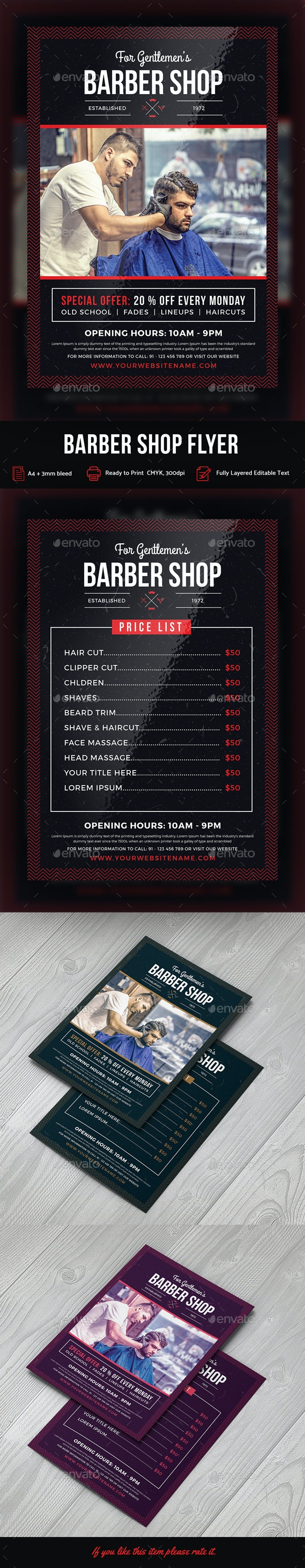 Barbershop Flyer - Print Templates