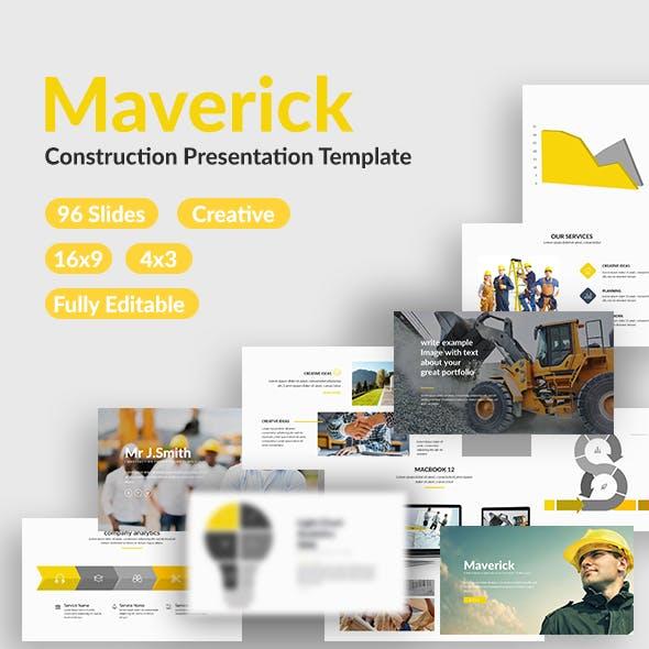 Maverick - Construction Powerpoint Template