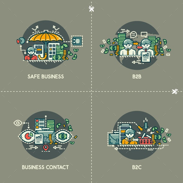 Safe Business, B2B, Business Contact, B2C - Concepts Business