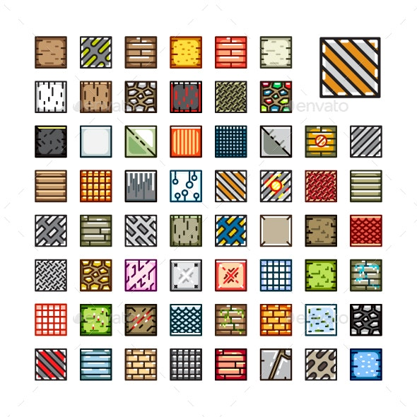 Top-Down Tilesets for Creating Video Games - Tilesets Game Assets