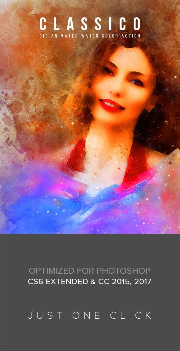 Gif Animated Classico Photoshop Action - Actions Photoshop