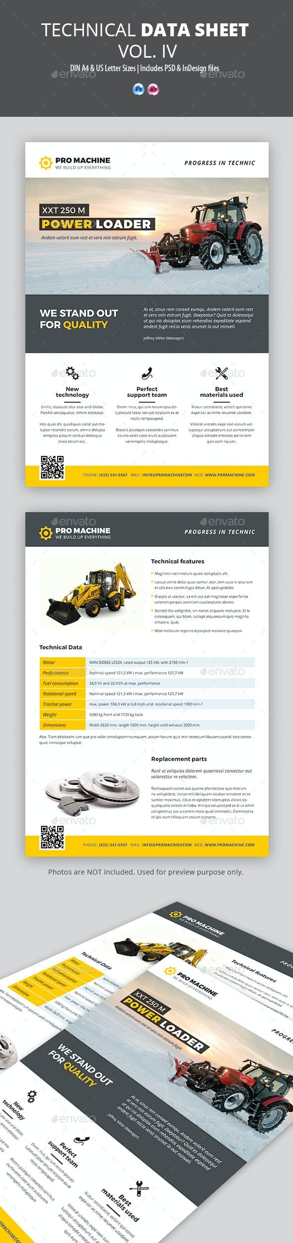 Technical Data or Product Sheet Vol. IV - Corporate Flyers