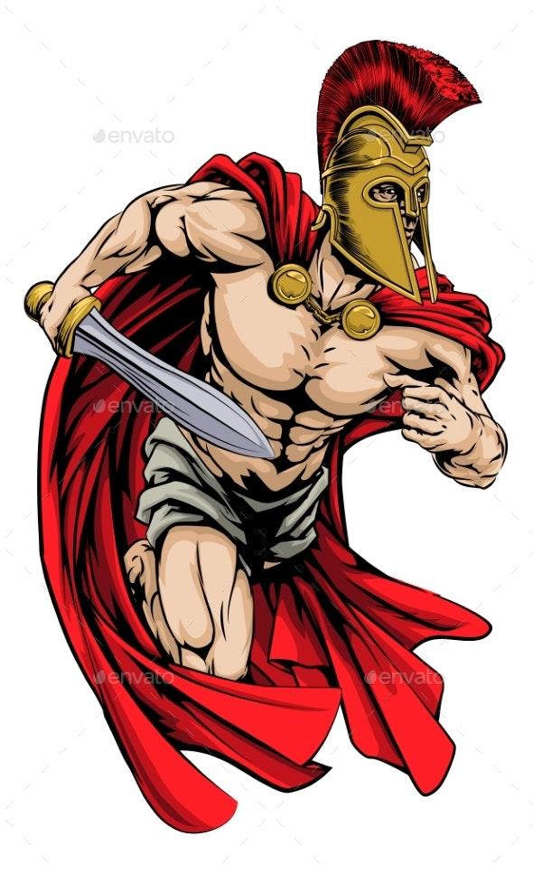 Spartan Sports Mascot - Sports/Activity Conceptual
