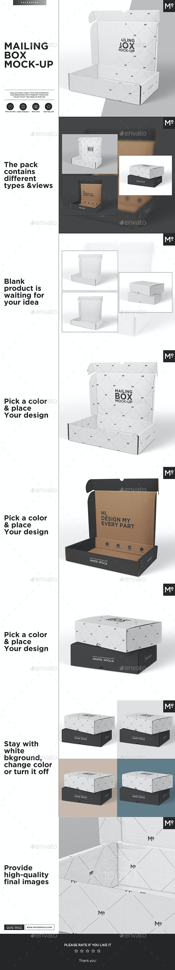 Mailing Box Mock-up - Miscellaneous Print