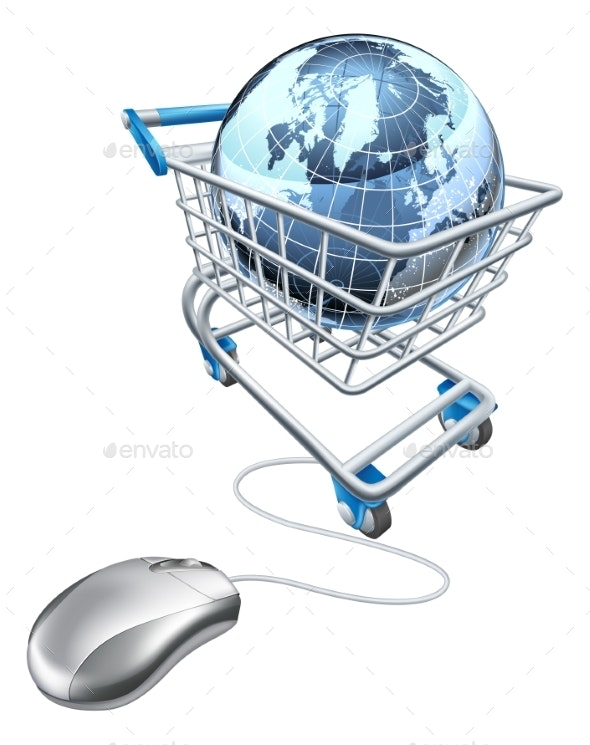 Globe Mouse Trolley Concept - Computers Technology