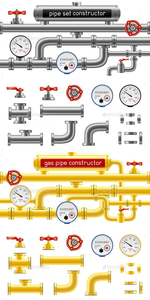 Pipe Set Constructor - Man-made Objects Objects