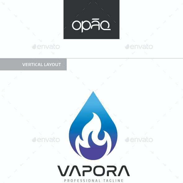 Vapora Water Flame Logo