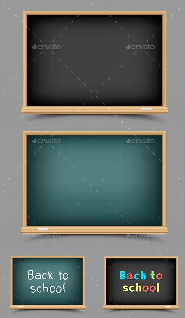 School Empty Blackboard - Man-made Objects Objects