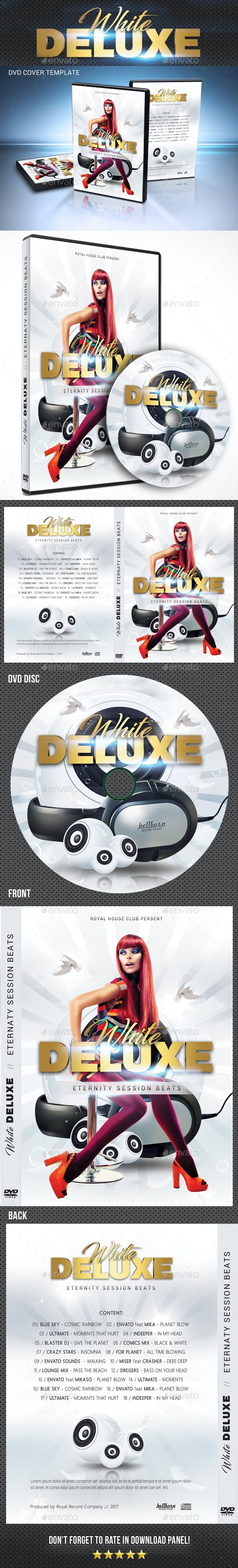 White Deluxe DVD Cover Template - CD & DVD Artwork Print Templates