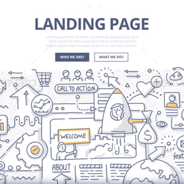 Landing Page Doodle Concept
