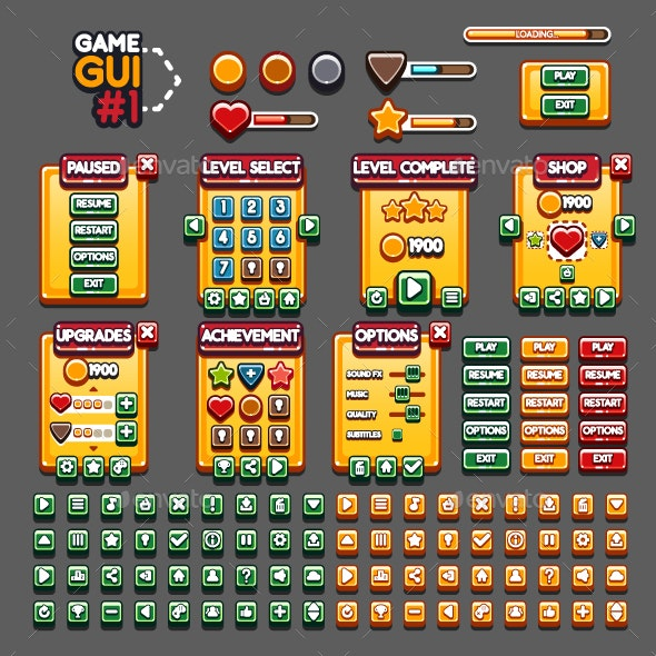 Game GUI #1 - User Interfaces Game Assets