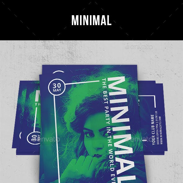 Minimal - Flyer