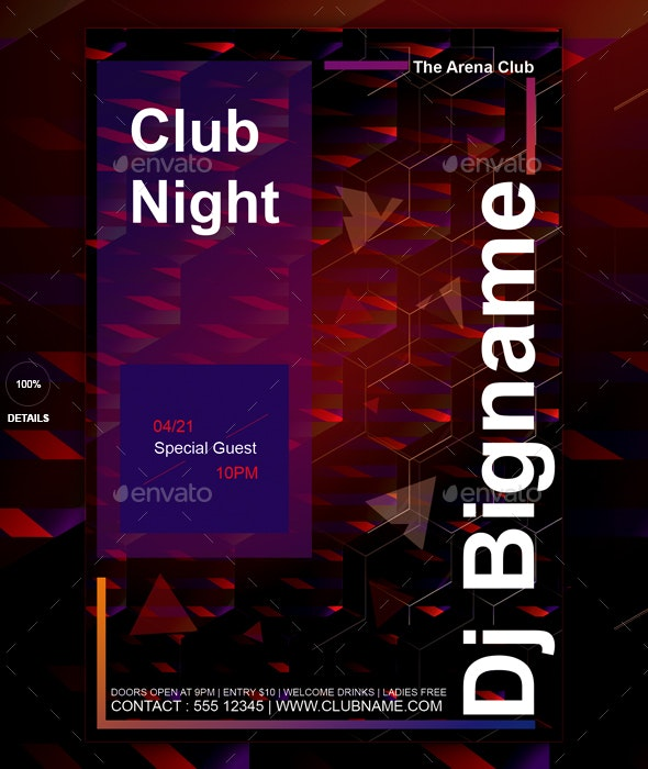 Modern club flyer template - Events Flyers