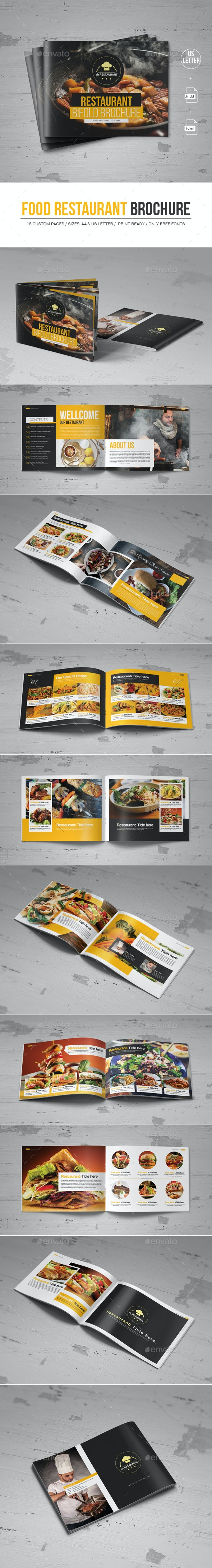 Food Restaurant Brochure - Corporate Brochures
