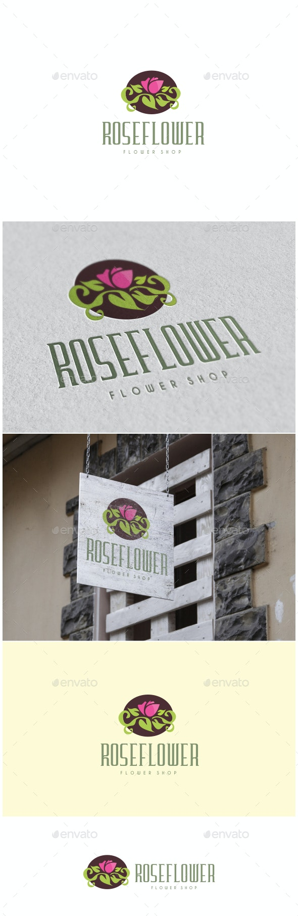 Rose Flower Logo