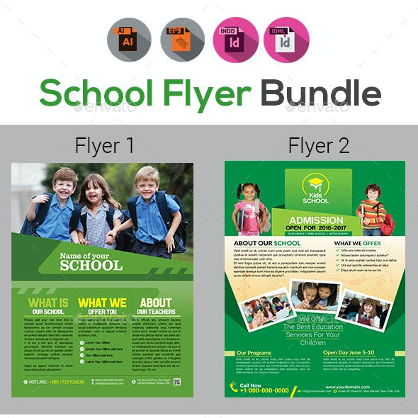 School Flyer Bundle V4