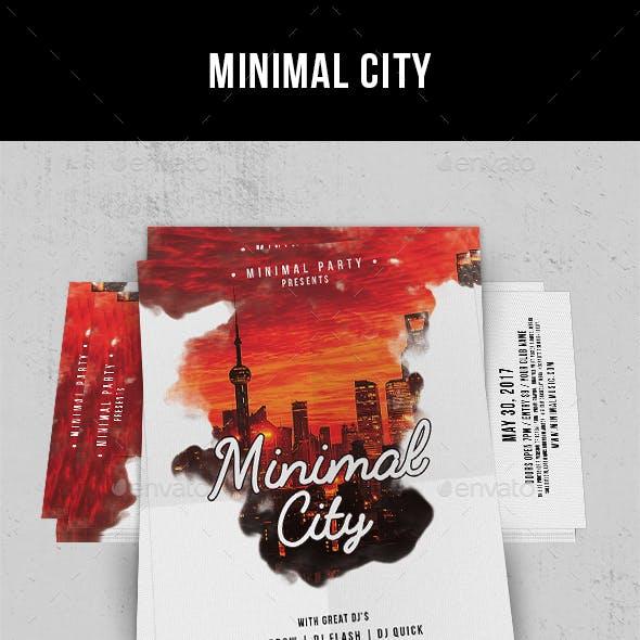 Minimal City - Flyer