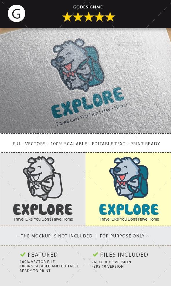 Explorer Bear Logo Design - Animals Logo Templates