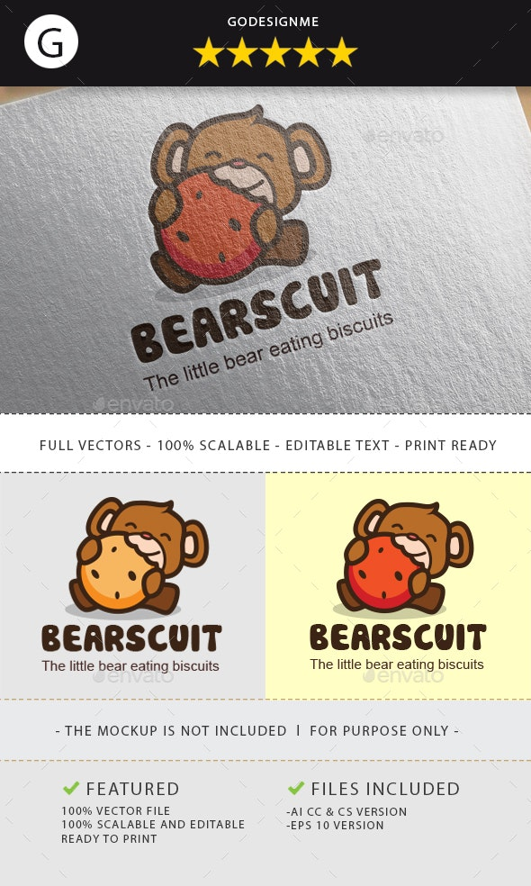 Bearscuit Logo - Animals Logo Templates