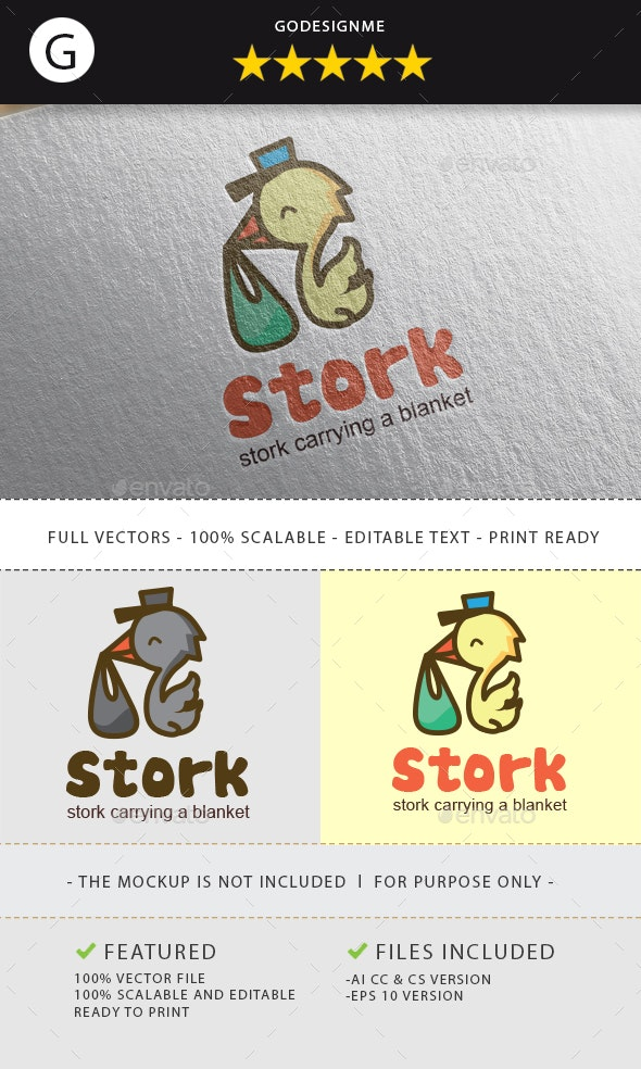 Stork Logo - Animals Logo Templates