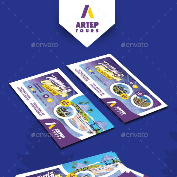 Travel Tour Business Card Templates