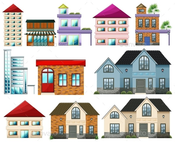 Different Buildings - Buildings Objects