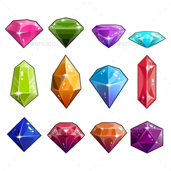 Big Set of Jewels and Diamonds Icons - Technology Conceptual