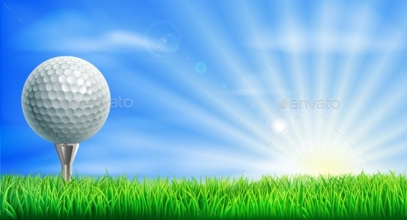Golf Course Ball and Tee - Man-made Objects Objects