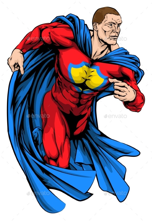 Strong Superhero - People Characters