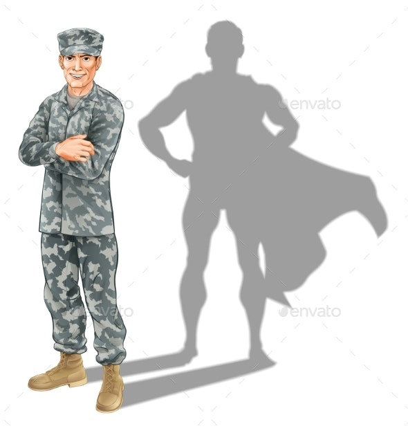 Hero Soldier Concept - People Characters