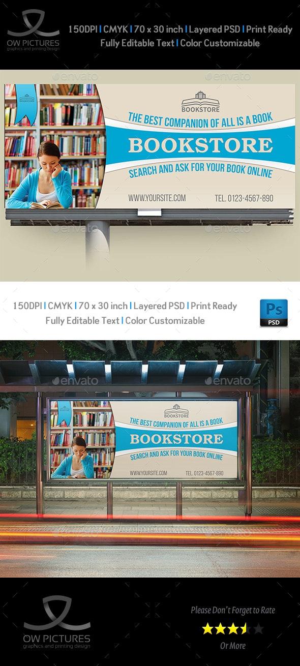 Bookstore Billboard Template - Signage Print Templates