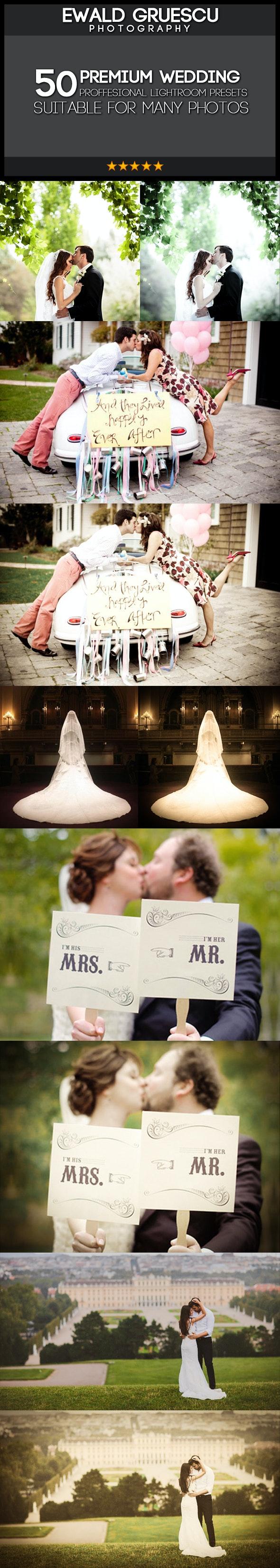 50 Extra PRO Wedding Dream Lightroom Presets - Wedding Lightroom Presets