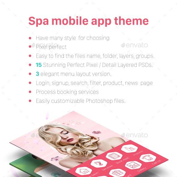 Spa Theme Mobile App - Mobile UI KIT