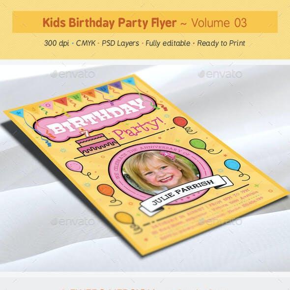 Kids Birthday Party Flyer - Volume 03